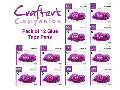 12x Crafter's Companion Permanent Double-Sided Adhesive Tape Pen Glue