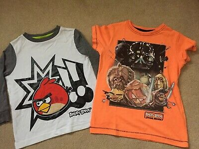 Next Boys Angry Birds Tops Bundle Size 4 Years