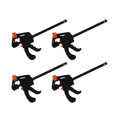 4x 4inch F Woodworking Clip Quick Grip Clamp Carpenter Tool for DIY Manual Work