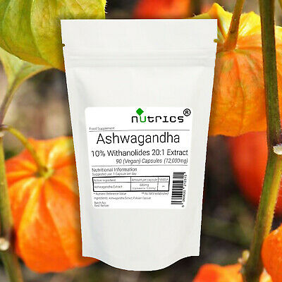 Nutrics® 12,000mg ASHWAGANDHA ROOT EXTRACT Capsules HighestWithanolidesContent