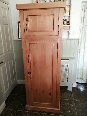 Solid Pine Country Kitchen 5Ft 10 Larder/ Wardrobe/ Bootroom Utility Cupboard