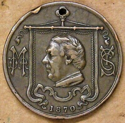 Bronze Coin PUT ON THE WHOLE ARMOR OF GOD 1870 Methodist Revival Meeting BEEKER