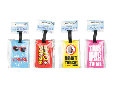 Humorous Slogan Luggage Tags Suitcase Baggage ID Label Holiday Travel Tag Name