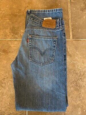 Levi Strauss 514 Slim Straight Red Tab Jean - W29 L29 - Mid Blue