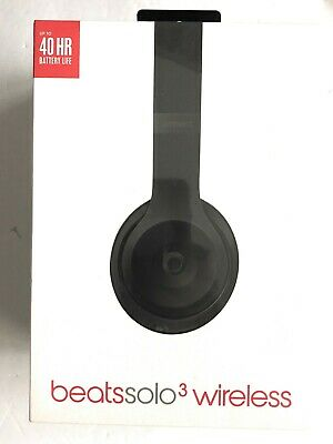 Beats by Dr. Dre Solo3 Wireless Headphones Matte Black 100% AUTHENTIC BRAND NEW