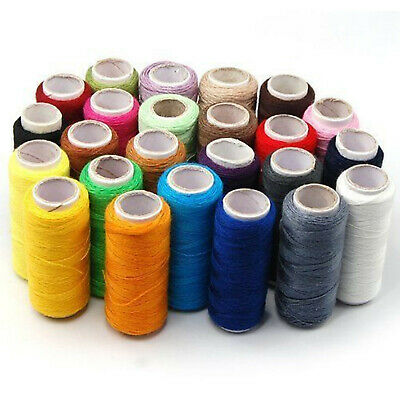 24 Colour Spools Finest Quality Sewing All Purpose 100% Pure Cotton Thread Reel