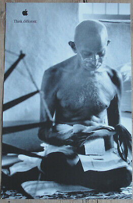 Original Mahatma Gandhi Think Different Apple Educational Series Poster AWESOME!