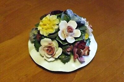 Vtg. Aynsley Fine Bone China Flower Display Hand Modelled & Hand Painted England