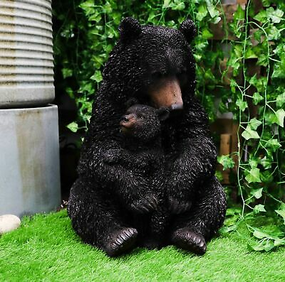 """Ebros Gift Realistic Black Bear with Cub Figurine Statue Large 20"""" Tall"""