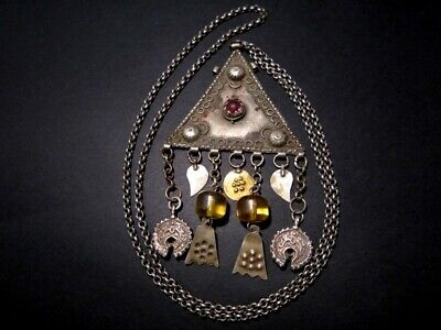 GORGEOUS ANTIQUE 1800s. SILVER JEWELRY NECKLACE from The BALKANS+++