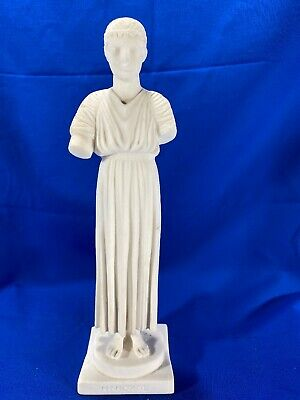 """ANCIENT GREEK REPLICA STATUE THE CHARIOTEER OF DELPHI SCULPTURE - 10"""" Tall-*Read"""