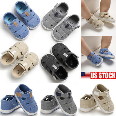 Infant Toddler Baby Boy Girl Soft Sole Crib Shoes Sneaker Anti-Slip Newborn Shoe