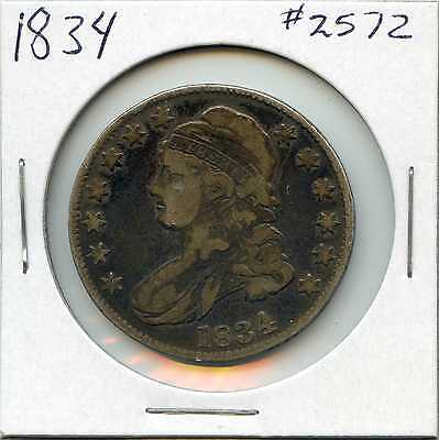 1834 50C Capped Bust Silver Half Dollar. Circulated. Lot #2291