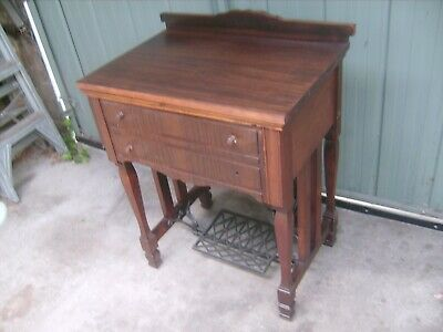 """""""VINTAGE TREADLE SEWING MACHINE CABINET,REASONABLE CONDITION from the Forties"""