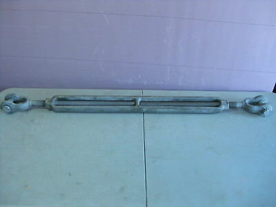 """Crosby HG-228 Jaw and Jaw Galvanized Turnbuckle Take-Up 1"""" x 24"""", WLL 5 Tons"""