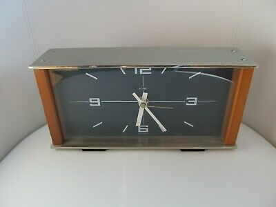 METAMEC MANTLE CLOCK with JUNGHANS 1 JEWEL QUARTZ MOVEMENT (Spares or Repair)