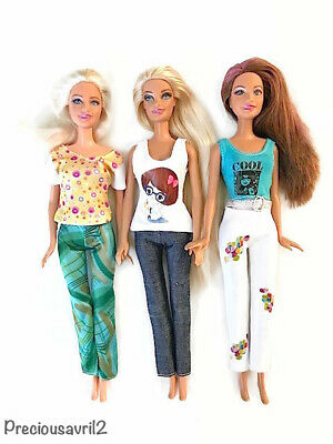 New barbie doll clothes clothing sets set of 3 outfits pants tops casual