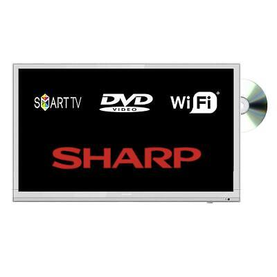 "Sharp LC-24DHG6001KFW 24"" Smart LED TV DVD Combi HD Ready WiFi Missing Stand"