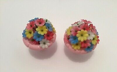 Vintage Topper toys doll's Dawn Beauty Pageant Flowers Bouquets two Vases girl