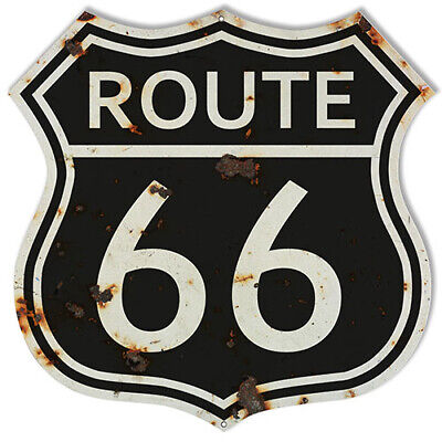 RVG985S Historic 66 Hot Rod Garage Cut Out Sign By Steve McDonald 15.5x19.5