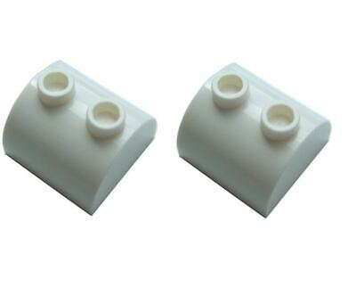 4160387 2 x Lego White Brick 1x6 with bow Parts /& Pieces