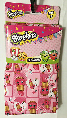 Shopkins Spring Leggings Girl's 8 M Pink Lipstick Make-Up Glam Theme