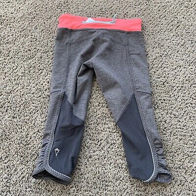 IVIVVA Lululemon Girls Crop Dance Quick Trip Leggings Pants Navy Size 6