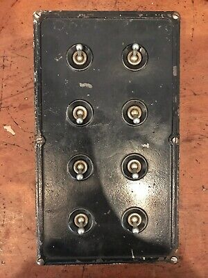 Vintage Industrial Britmac 8 Gang Toggle Switch