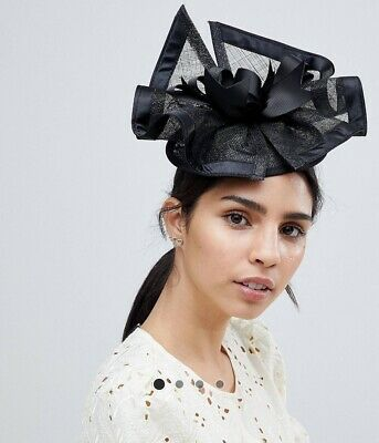 ELEGANT BLACK FASCINATOR | Wedding Guest | Ladies Day | Race Royal Ascot