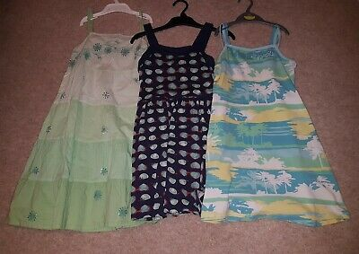 Bundle of 3 Girl's Summer Dresses. Next  and H&M. Age 8 and 9yrs