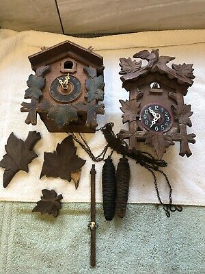 2 x Vintage Cuckoo Clock - For Repair Or Parts