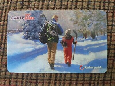 Tim Hortons Rechargeable Gift Card FD-25615 Father & Son French Zero Balance