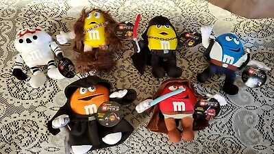 Star Wars M&M M&Ms Chocolate Mpire Characters Plush Toy Figure Lot of 6 Figures