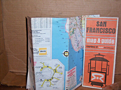 Two San Francisco maps from the 1980's with tour guides.  The Montry Bay area by