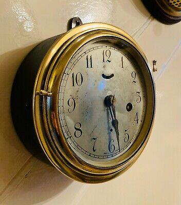 Genuine 19thC Brass cased Seth Thomas Ships Clock