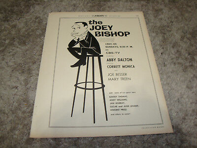 THE JOEY BISHOP SHOW 1966 Emmy ad Danny Thomas, Andy Williams, Vincent Price