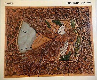 Vintage Craftaid Eagle Pattern Stencil for Leather-Crafting No.6534 Nice Shape