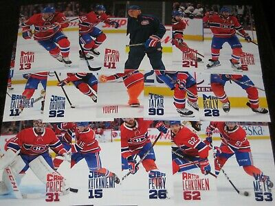lot of 15 '19/20 MONTREAL CANADIENS team issued cards w/ GALLAGHER PRICE WEBER