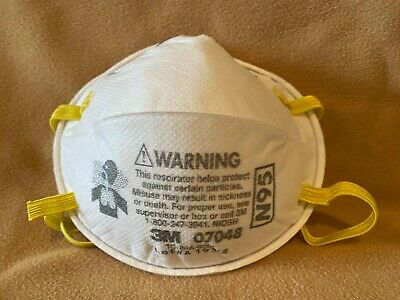 Set of TWO  3M 07048 N95 Safety Respirator Dust Mask