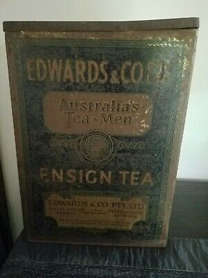 Rare Vintage Edwards & Co Australia's Tea Tin Circa 1930s. 14lbs