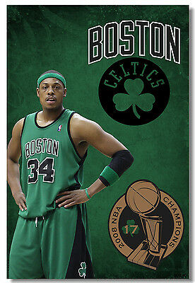 Poster Paul Pierce Basketball Star Boy Room Club Art Wall Cloth Print 503