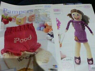 Matilda Doll Toy and Baby Soakers Pants Knitting Pattern