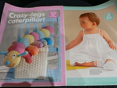 Caterpillar Toy Knitting and Baby Crochet Dress/Bootees Pattern