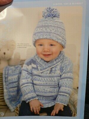 Baby Jumper Hat and Blanket Knitting Pattern