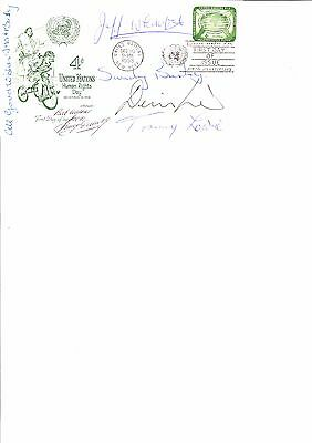 1958 Football First Day Cover Multi Signed 18 Yes 18 Autographs On One Cover