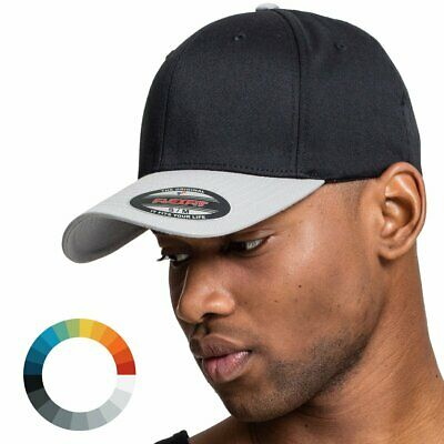 Flexfit Plain Span Heather Grey Wooly Combed Stretchable Fitted Cap Basecap
