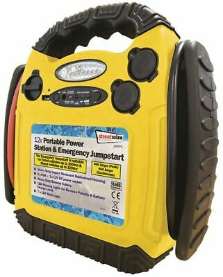 Streetwize SWPP2 Emergency Jump Start 900 Amp Portable Power Pack with Cables