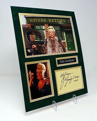Julie GOODYEAR Signed Mounted Photo Display AFTAL COA Coronation Street Legend