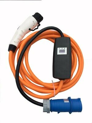32amp 7kw EV / PHEV charging cable portable charger, Commando / CEE to Type 1