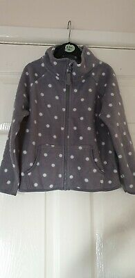 Grey Spotty Zip Up Fleece Age 5-6 Years Primark